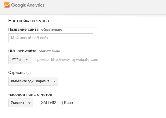 добавить google analytics на сайт