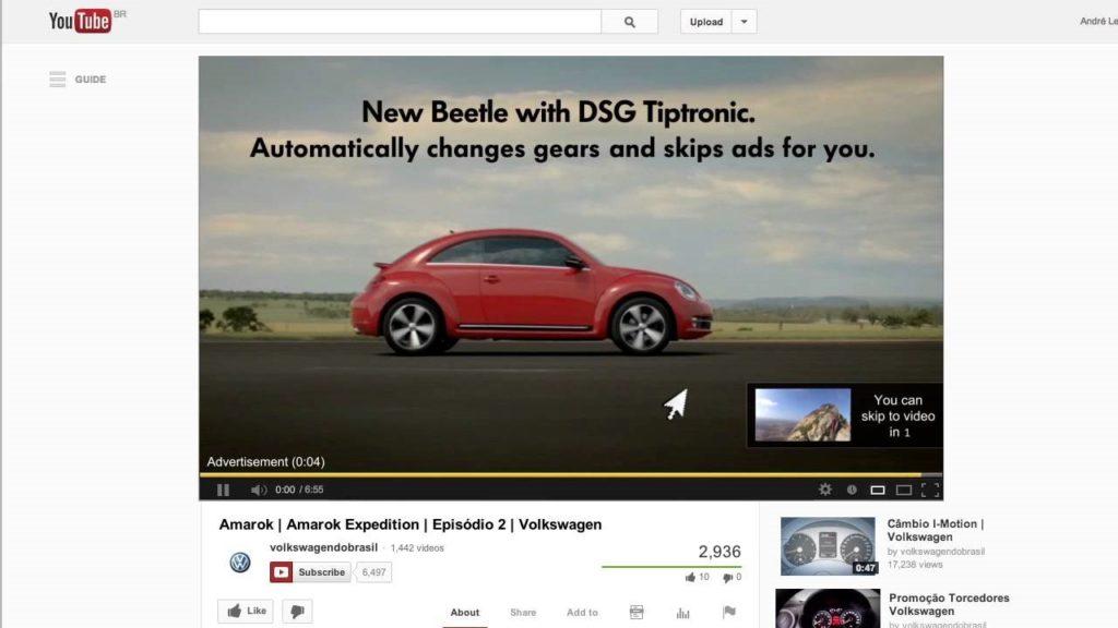 реклама в начале ролика